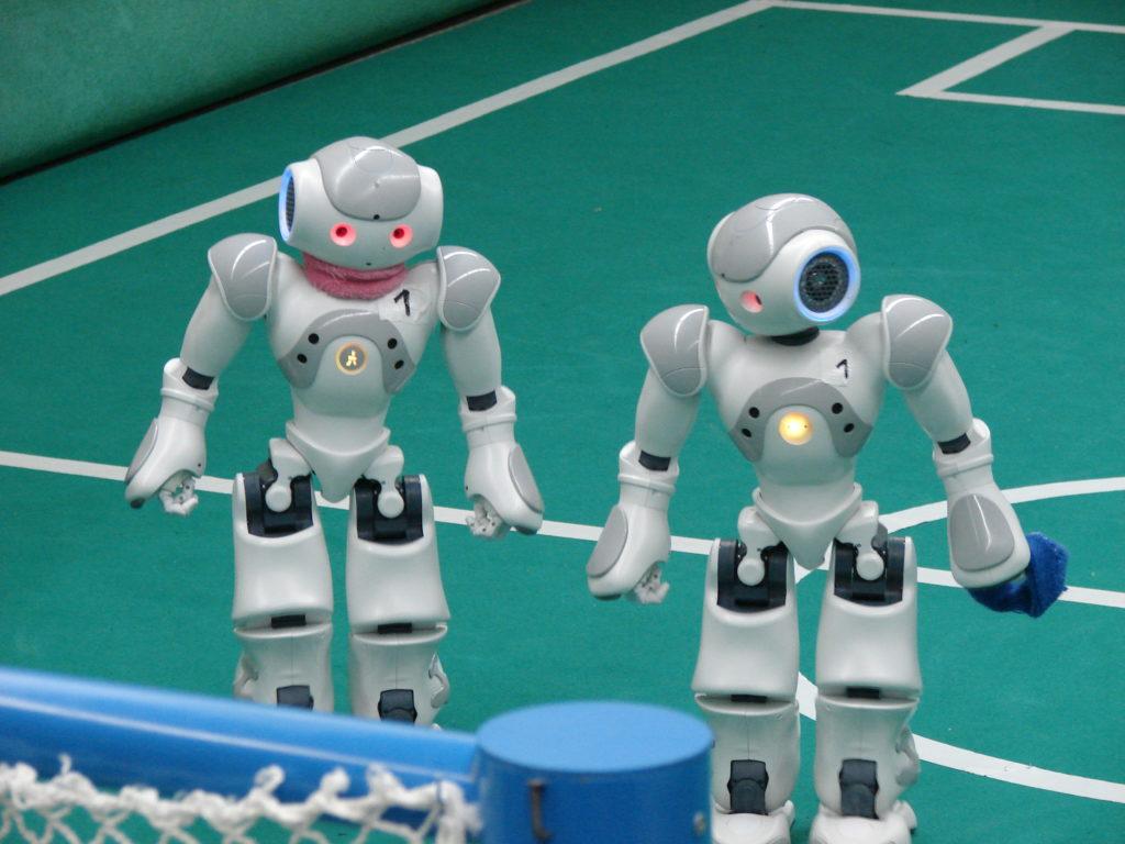 Nao-Roboter beim RoboCup