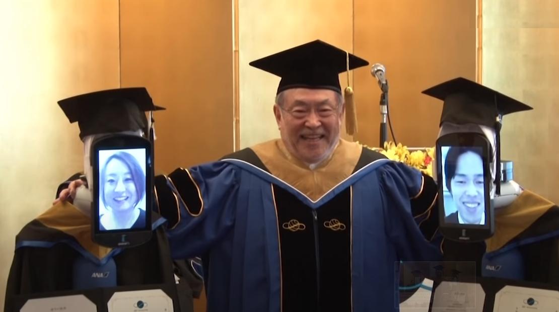 Wegen Coronavirus: Telepräsenzroboter ersetzen in Japan Studenten bei ihrer Abschlussfeier