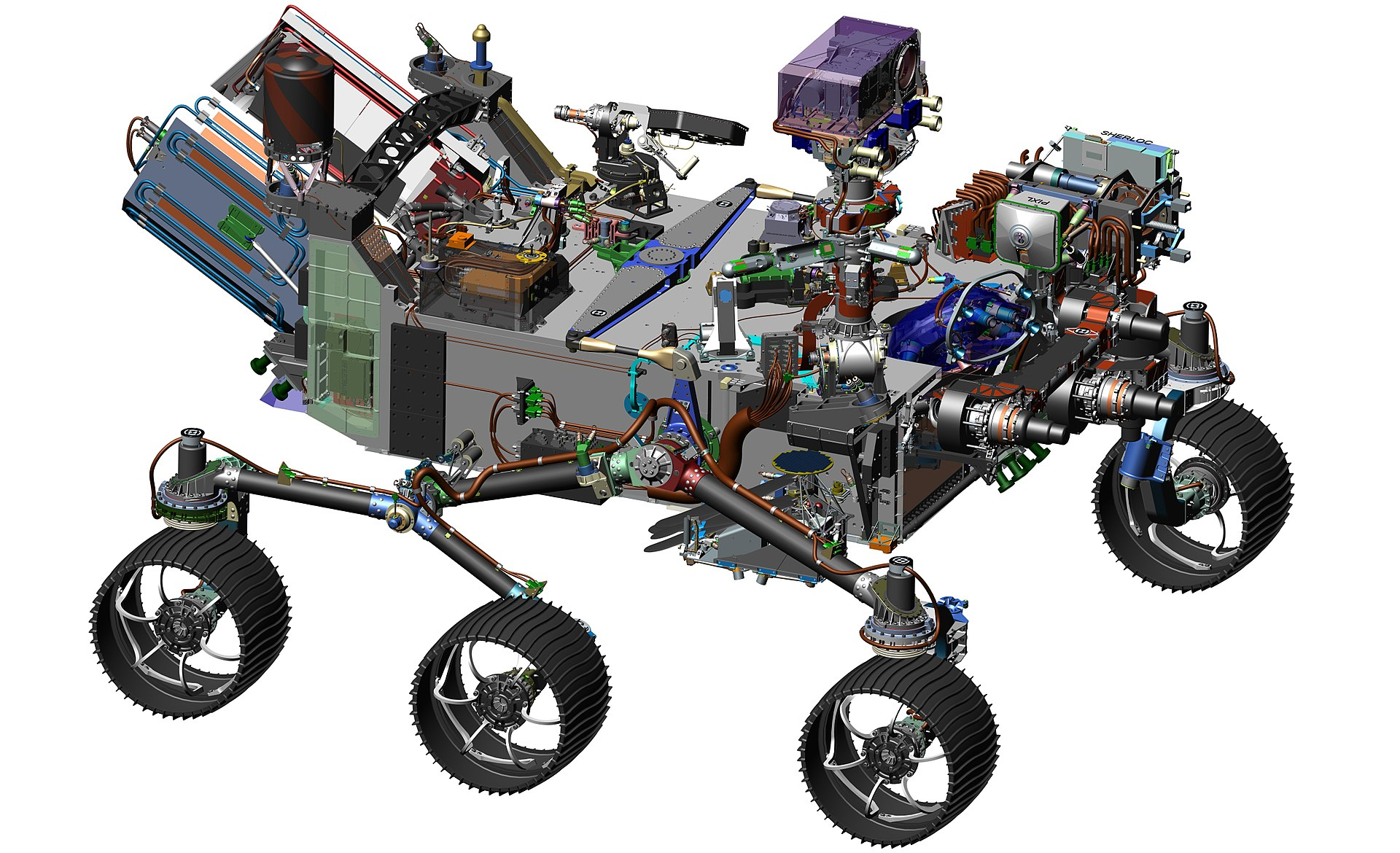 3D-Modell des Mars-Rovers Perseverance