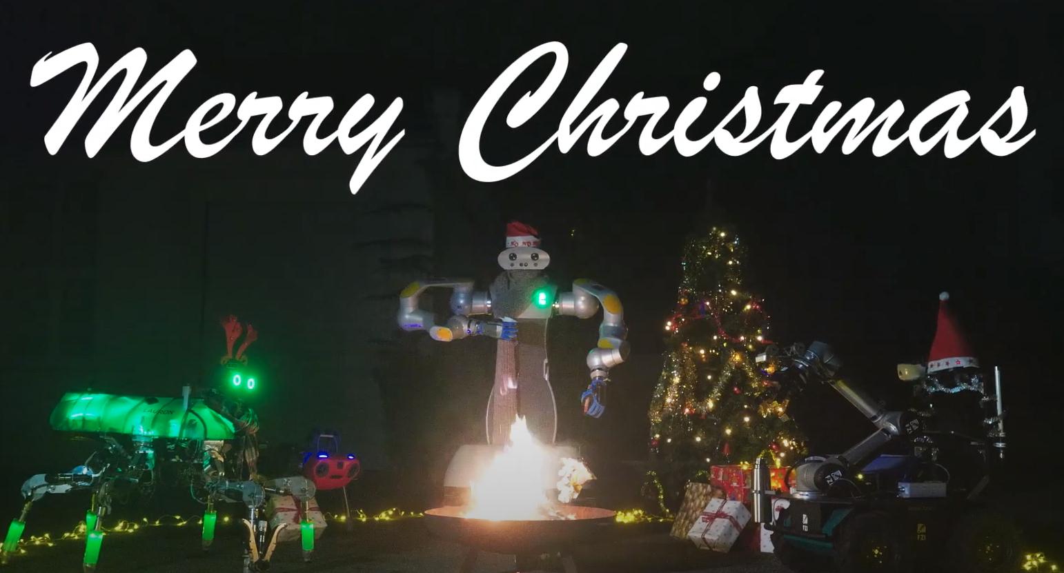 Weihnachtsparties abgesagt? Nicht für Roboter!